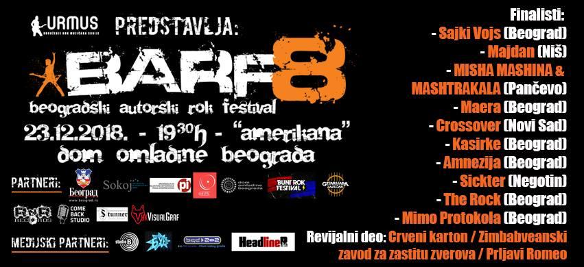 Poznati finalisti BARF8 – finale 23.decembra u Domu omladine!