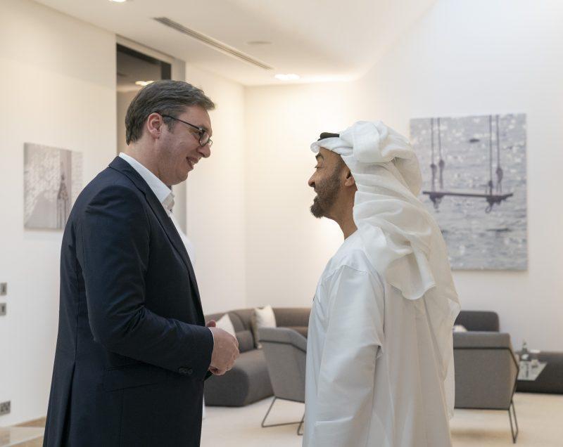 Vučić u Abu Dabiju kod šeika Mohameda