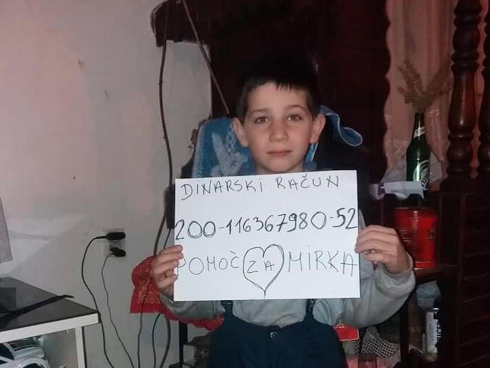Pomognimo sedmogodišnjem Mirku Iliću iz Paraćina