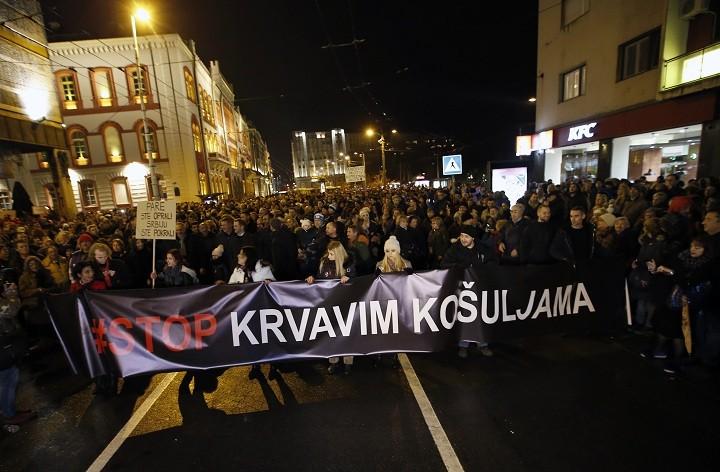 Beograd: Protestna šetnja – bez incidenata