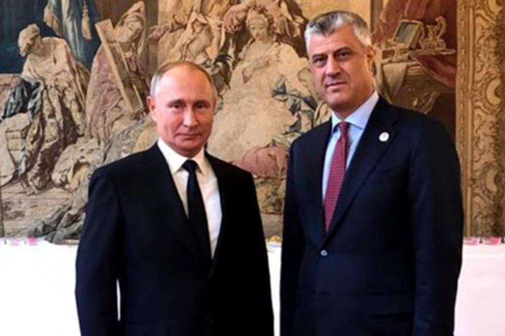 Ria novosti: Tači zove Putina da poseti Kosovo