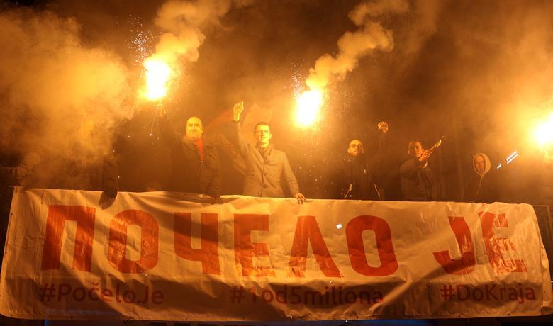 """Nastavlja se: Više hiljada građana na protestu """"Jedan od pet miliona"""""""