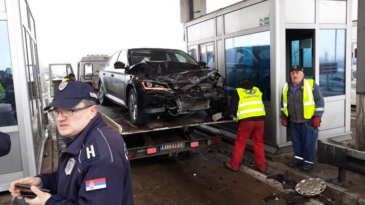 Saobraćajna nesreća na naplatnoj rampi Doljevac