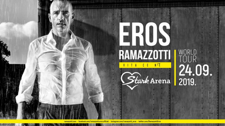 Štark arena: Eros Ramacoti nastupa 24. septembra