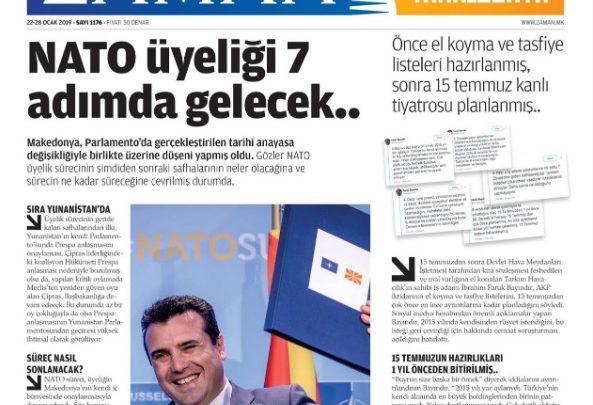 """Makedonija: Turska zabranjuje list na turskom jeziku """"Zaman"""""""