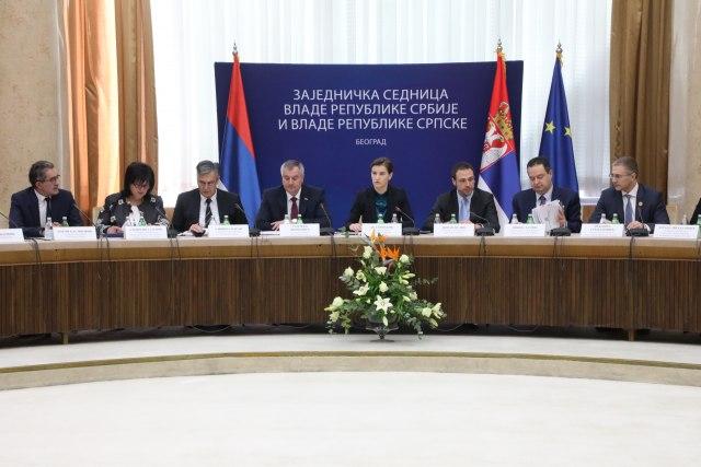 Zajednička sednica Vlade Srbije i RS