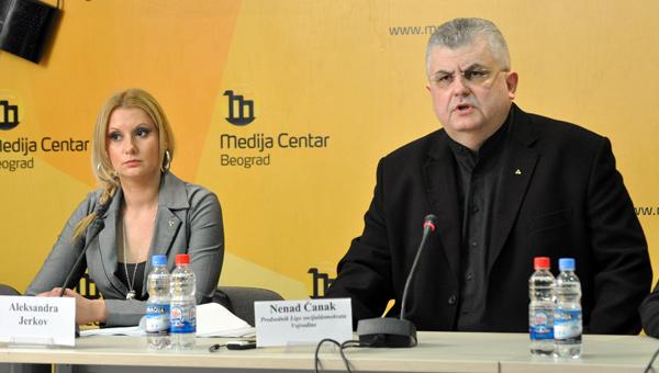 Skupština Srbije: Čanak prepiso Aleksandru Jerkov?
