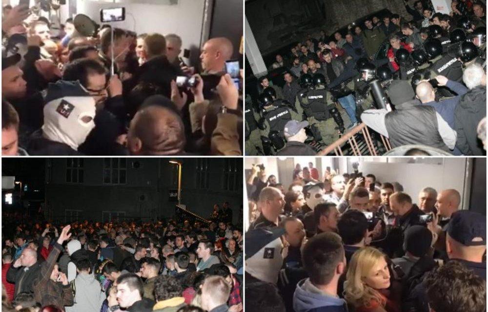 RTS: Oko 100 ljudi ušlo je u zgradu Televizije!