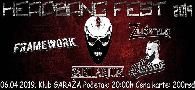 "Beograd: ""Headbang Fest"" u subotu 6.aprila u klubu Garaža"