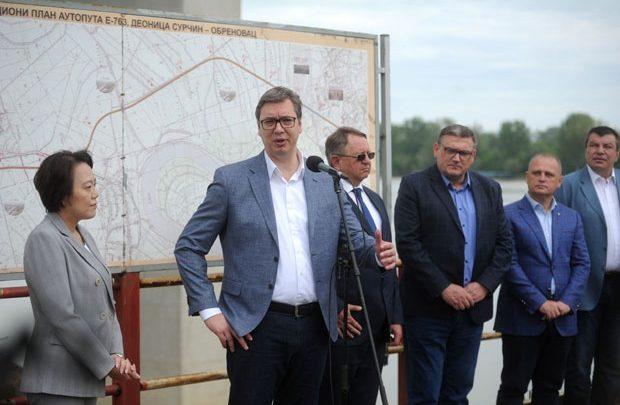 Vučić na mostu preko Save i Kolubare