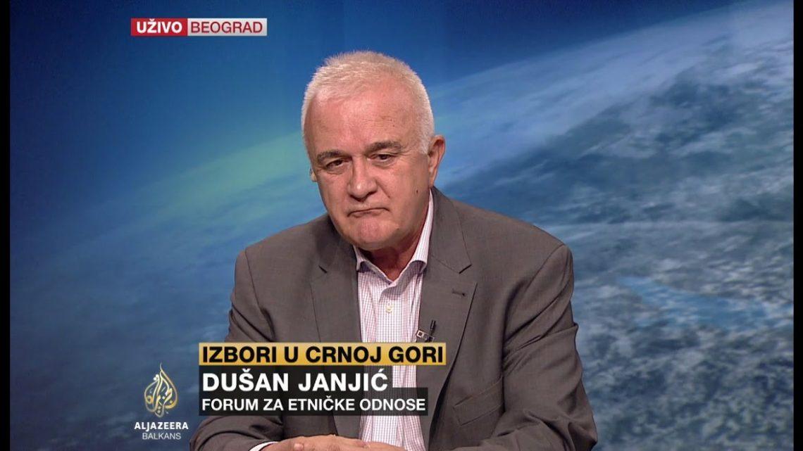 DUŠAN JANJIĆ: Srbija se previše meša u unutrašnje stvari Crne Gore