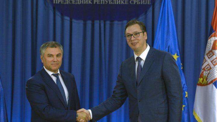 BEOGRAD: Predsednik Dume Volodin pred srpskim poslanicima