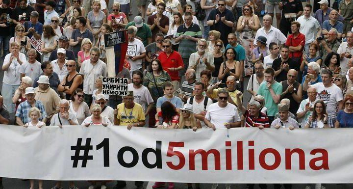 """PROTEST: """"Jedan od pet miliona"""" obeležili sedam godina vlasti Aleksandra Vučića"""