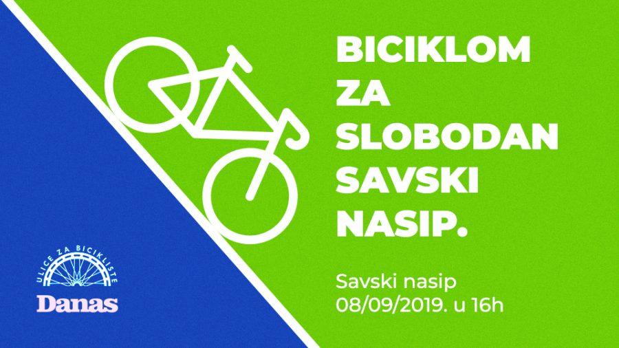 """NEDELJA: Biciklisti voze za """"slobodan Savski nasip"""""""