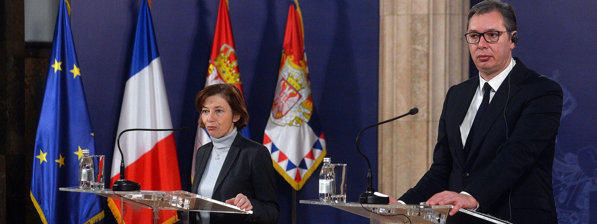 Beograd: Francuska ministarka pohvalila srpsku vojsku