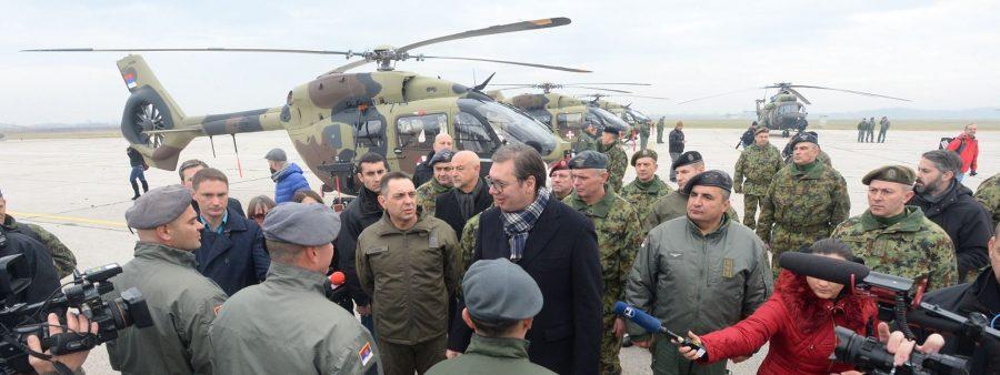 Batajnica: Vučić promovisao novu helikoptersku eskadrilu VS
