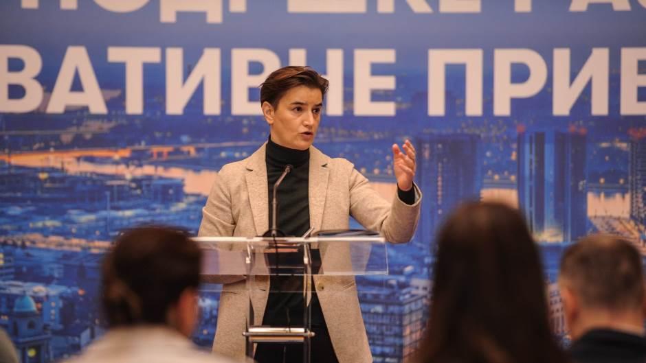 Ana Brnabić: Vlada privrednicima najavila paket olakšica!