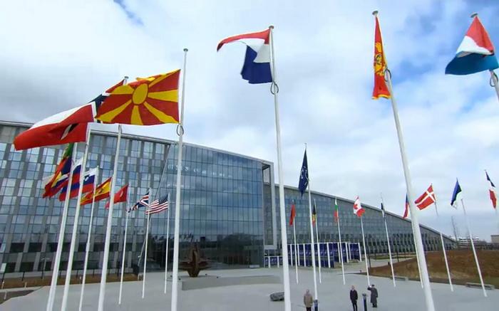 BRISEL: Podignuta zastava S. Makedonije ispred NATO sedišta