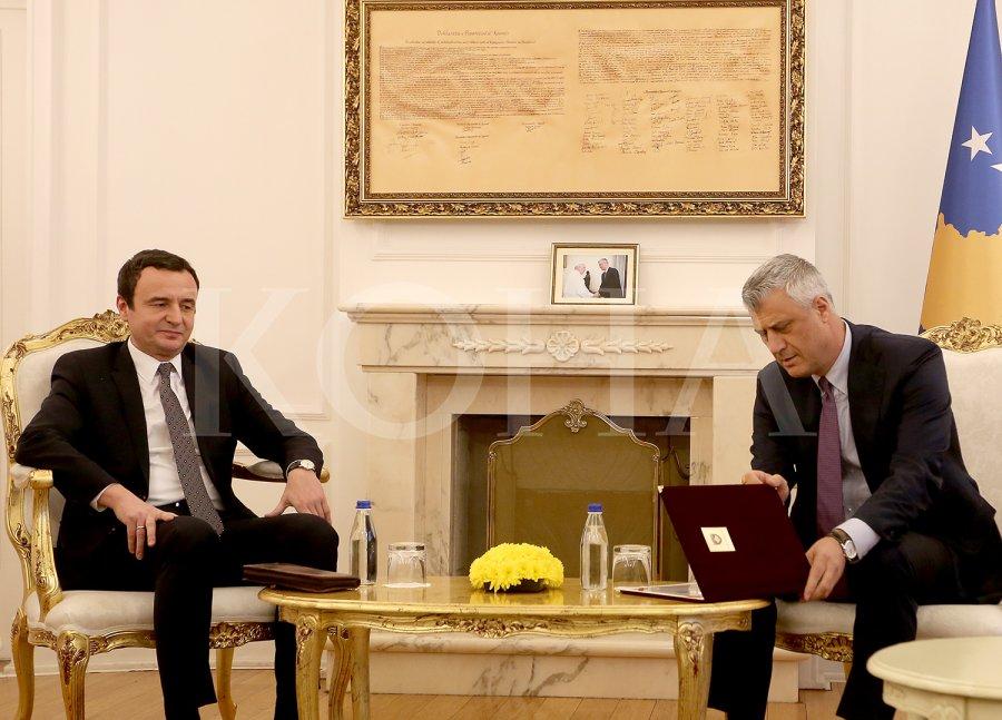 """ALJBIN KURTI: Tači je """"ceremonijalna ličnost i državni beležnik"""""""