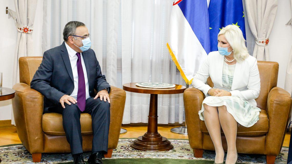 Михајловићева: Захвалност израелском инвеститору на улагањима у Србију