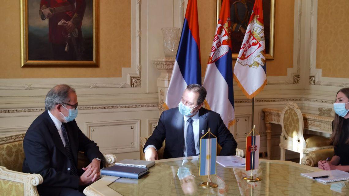 Дачић разговарао са амбасадором Аргентине у Србији
