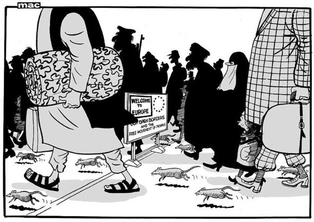 Dejli Mejl: Izbeglice predstavljene kao pacovi