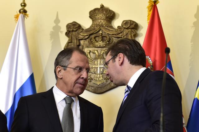 Konferencija za medije AleksandraVučića i Sergeja Lavrova