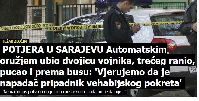 Svetski mediji o ubistvu vojnika u Sarajevu