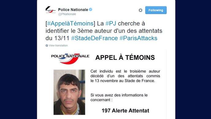 Francuska policija objavila fotografiju trećeg bombaša samoubice