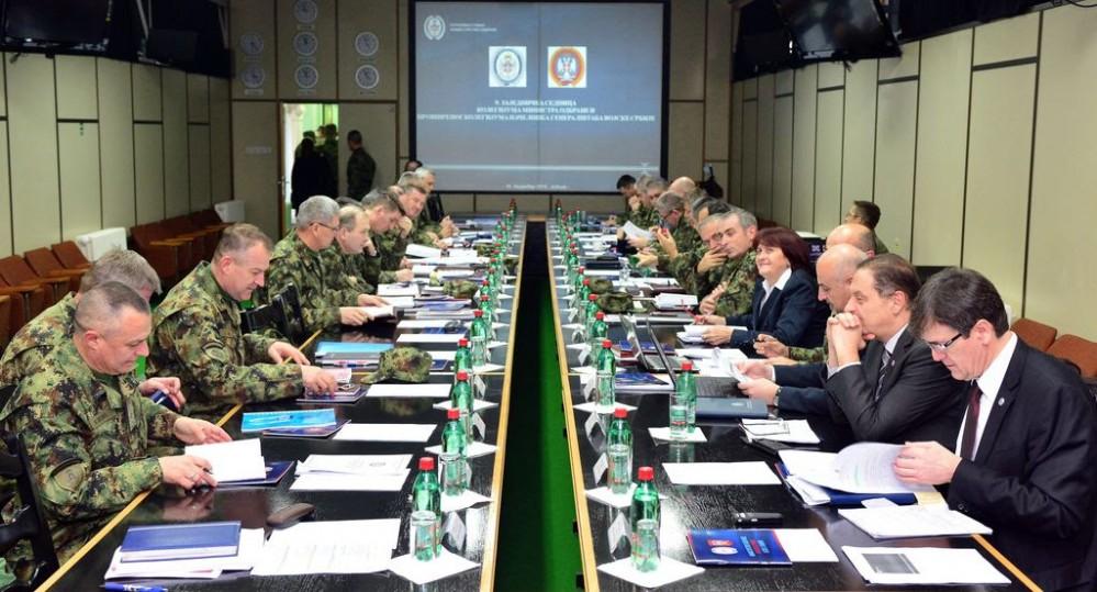 Zajednička sednica kolegijuma ministra odbrane i načelnika Generalštaba Vojske Srbije