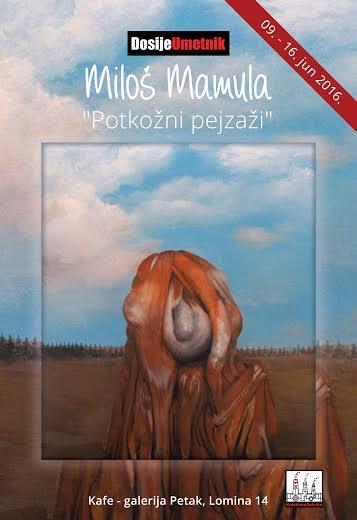 U Galeriji Petak od 9. juna izlaže Miloš Mamula