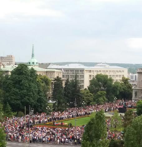 Protest građana Beograda zbog rušenja Savamale