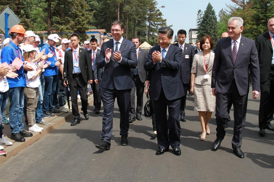 Predsednici Đinping i Nikolić posetili železaru u Smederevu