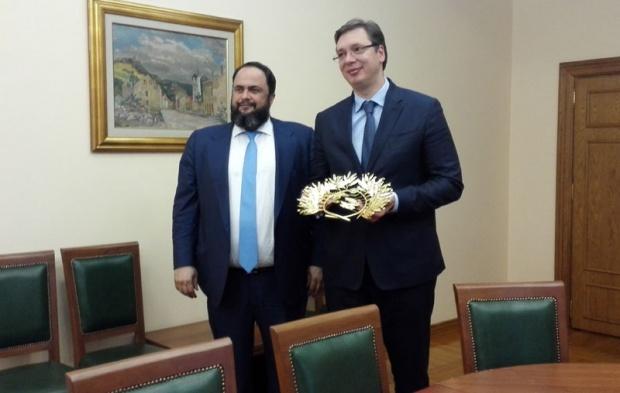 Vlasnik Olimpijakosa kod Vučića