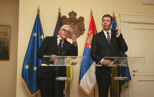 Konferencija za medije Vučića i Štajnmajera