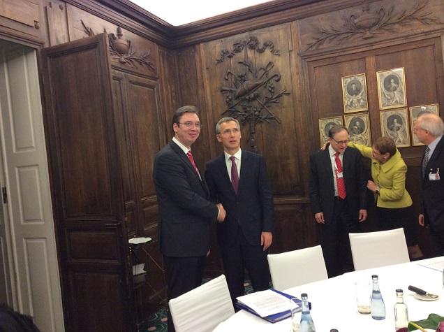 Konferencija za medije Aleksandra Vučića i Jensa Stotemberga