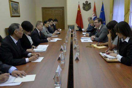 Vučić razgovarao sa Liuom Haisingom